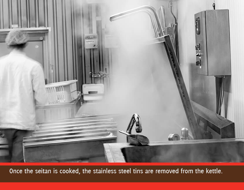 seitan comes from the cooking kettle