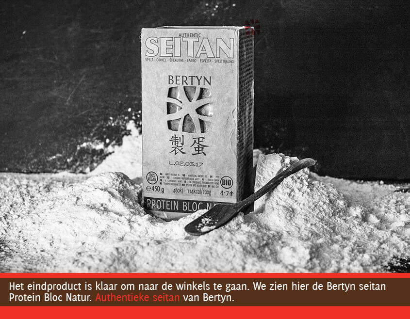 de seitan verpakking van Bertyn