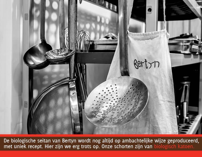 keukenmateriaal in de keuken van Bertyn