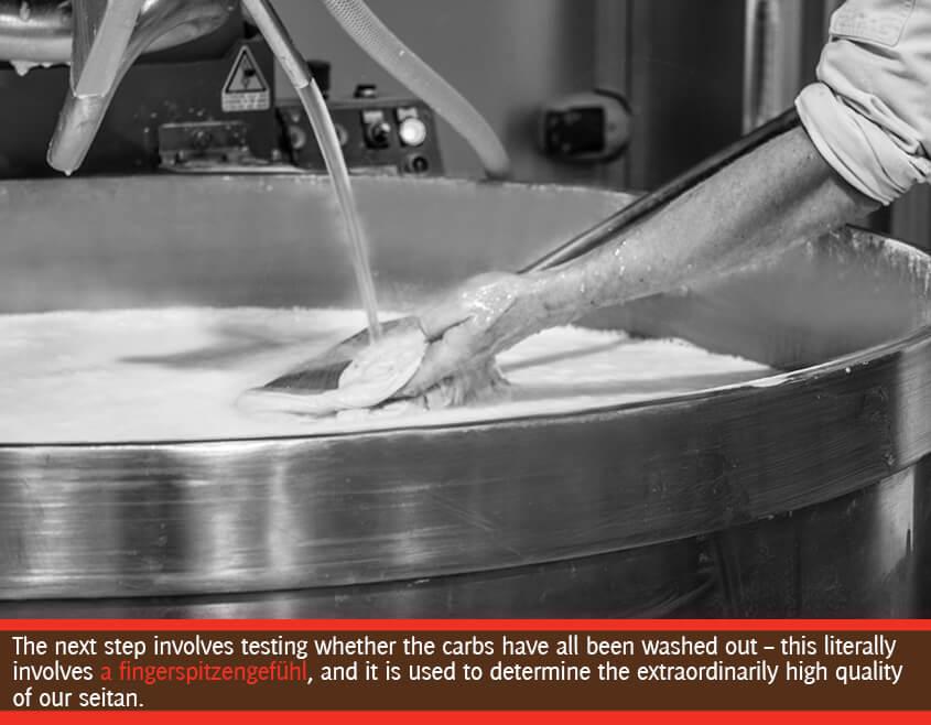 the seitan dough is tested