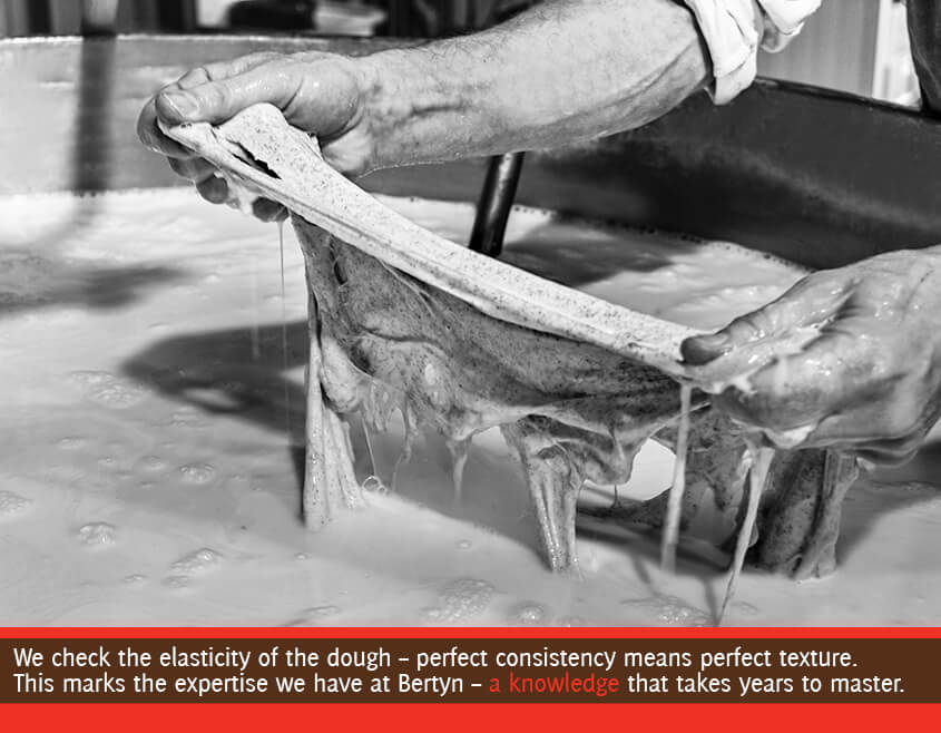 the seitan dough is tested for elasticity