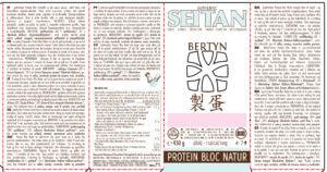 ÉTIQUETTE Veggie Protein Bloc – Natur