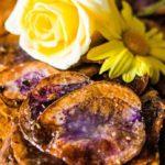 Recept voor een seitan pepersteak met gratin van paarse aardappelen