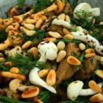 Zilte salade met seitan