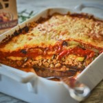 Vegetable Lasagna with Seitan and Grilled Vegetables recipe