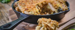 Vegetarische Mac and Cheese met seitan voor eiwitten