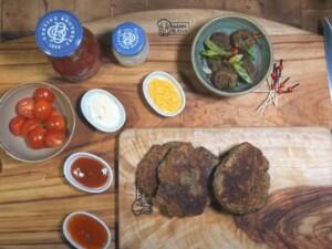 Rezept für 3 vegane proteineiche Burger mit Instant-Protein-Veganmix von Bertyn