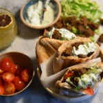 recipe Best vegan doner kebab in pita loaves with seitan instant mix