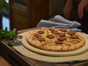 recette pour saucisse riche en protéines à faible teneur en glucides pour pizza végétalienne
