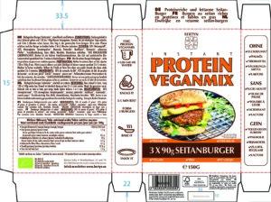 Instant Protein Veganmix – Seitanburgers – Etiket