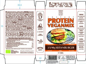 Instant Protein Veganmix – Seitanburgers – Label