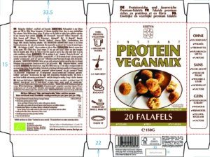 Instant Protein Veganmix – Falafels – Étiquette